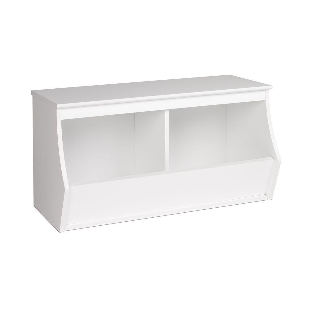 Monterey Stackable 2-Bin Storage Cubby