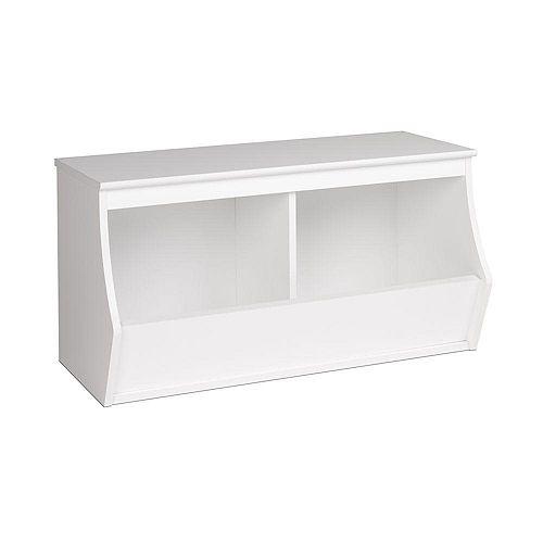 Prepac Monterey Stackable 3-Bin Storage Cubby