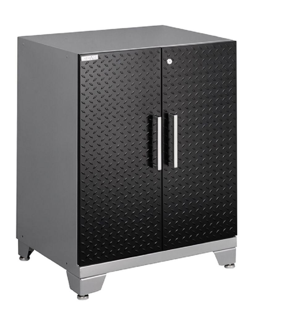 NewAge Performance Plus Diamond Series 2 Door Base Cabinet, Black