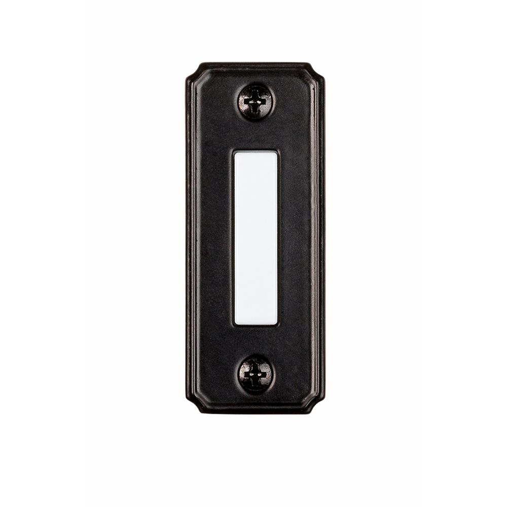 Wired Lighted Bell porte Push Button - Noir
