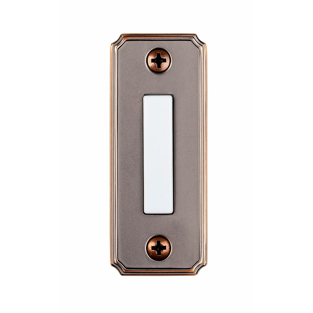Wired Lighted Bell porte Push Button - Bronze méditerranéen