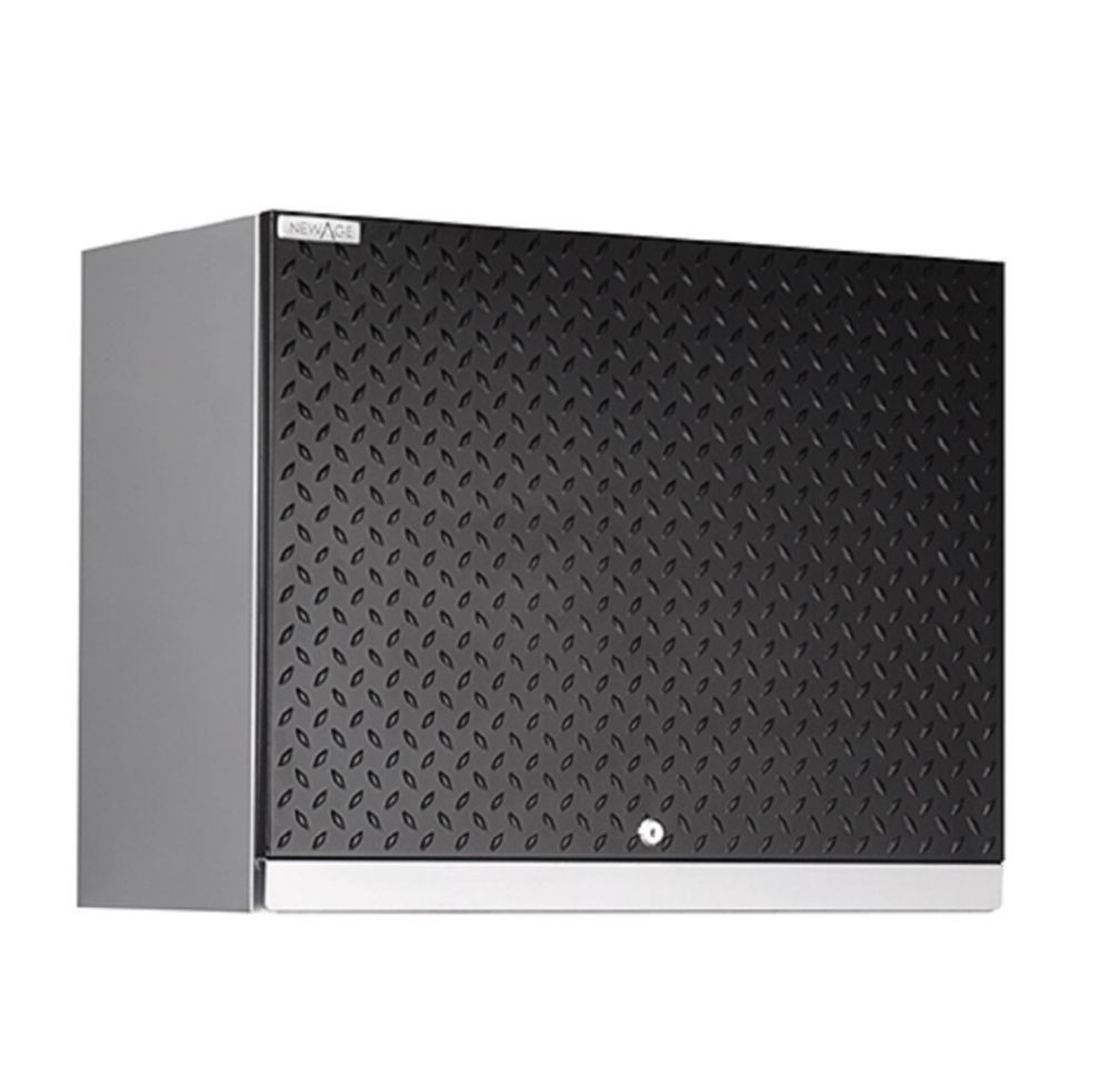 NewAge Performance Plus Diamond Series Wall Cabinet, Black