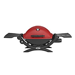 Weber Q 1200 Portable Tabletop Propane BBQ in Red