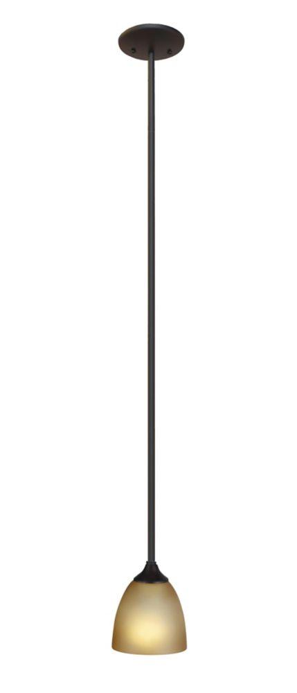 Mini suspendu à 1 lumière, Fini bronze oxydé
