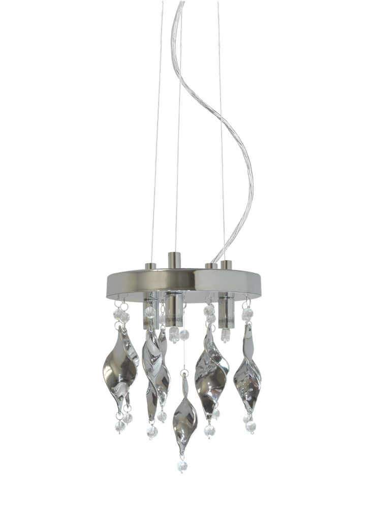 3 Light Mini Pendant, Chrome Finish