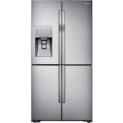 Samsung 28 Cu.Feet 4 Door French Door Refrigerator with Convertible Zone - RF28K9070SR - ENERGY STAR®