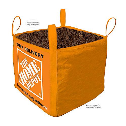 Nivellement, terre végétale - Sac livré en vrac - 1 verge cube