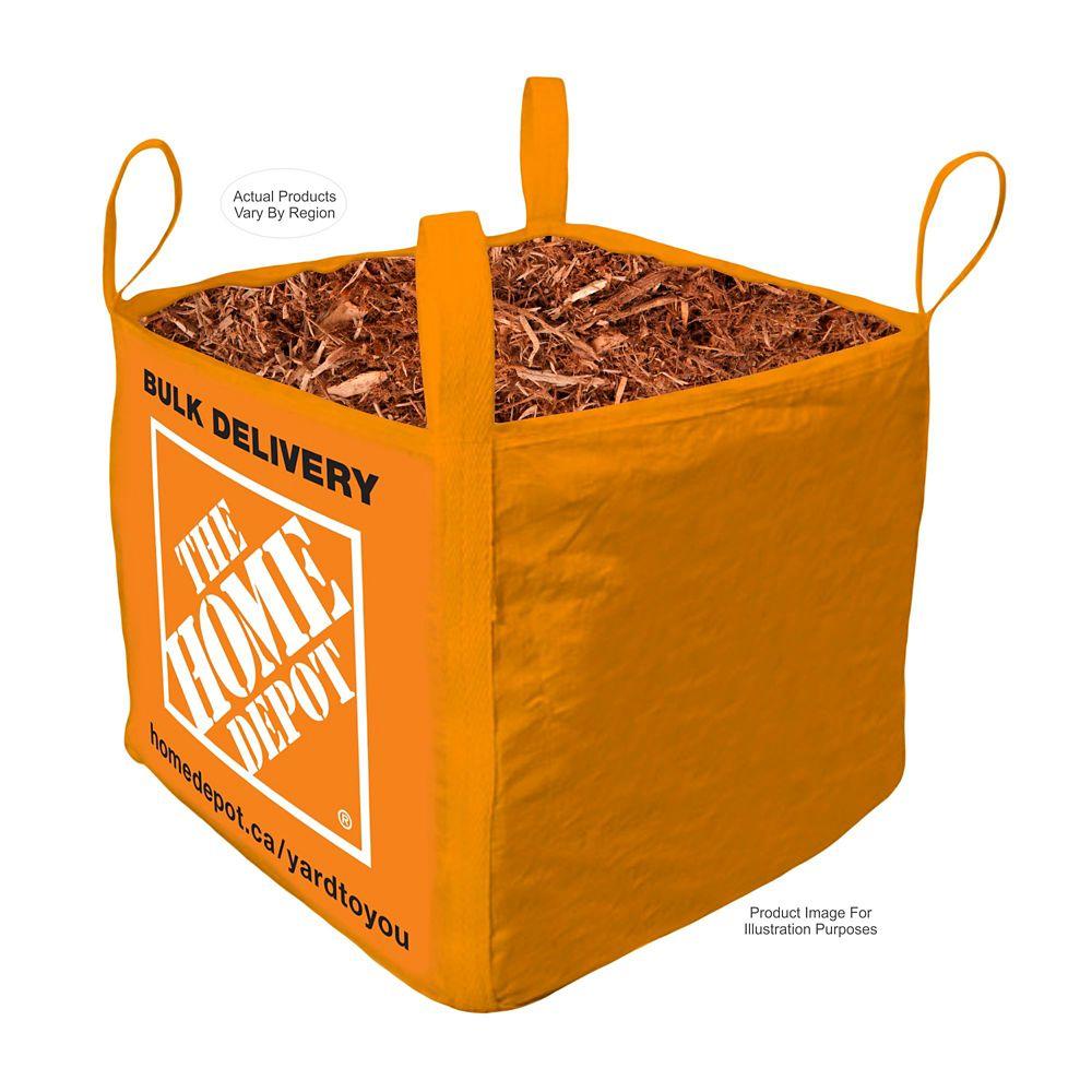 Brown Mulch- Bulk Delivered Bag- 1 Cubic Yard