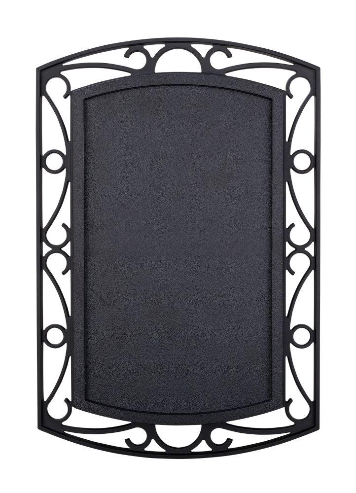 Sans fil ou filaire de Bell porte - noir avec Scroll Métal Accents