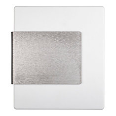 Wireless or Wired Door Bell - White with Brushed Nickel Accent