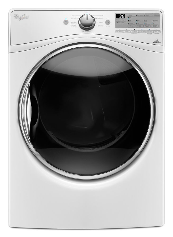 7.4 cu. Feet Front Load Electric Dryer with Advanced Moisture Sensing