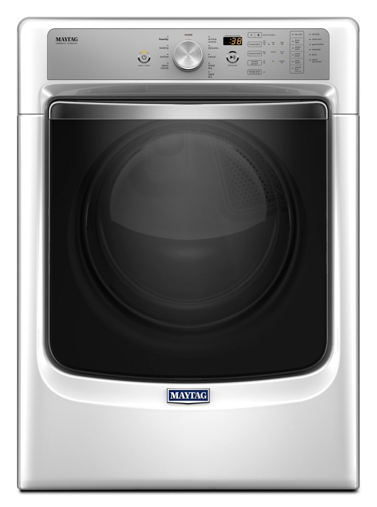 7.4 cu. Feet Front Load Electric Dryer w/ Refresh Cylce with Steam and PowerDry System