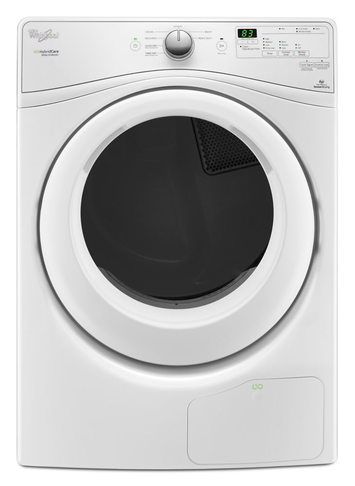 7.4 cu. Feet, Front Load HybridCareFeet Ventless Dryer w/Heat