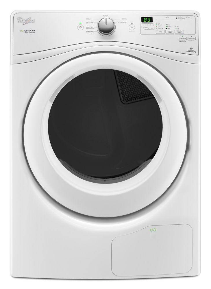 Sécheuse à chargement frontal de 7,4 pi cu Whirlpool<sup>®</sup> sans conduit de ventilation, ave...