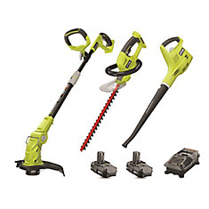 18V ONE+ Lithium-Ion Cordless Hedge Trimmer and Blower Combo Kit (3-Piece) with 2 Batteries
