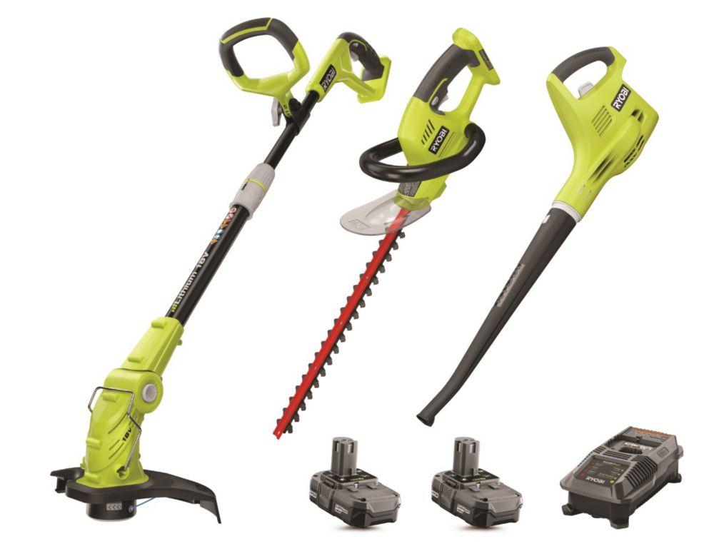Ryobi 18V Trimmer/Hedge Trimmer/Blower Combo Kit