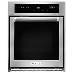 KitchenAid 24-inch 3.1 cu. ft. Single Electric Wall Oven Self-Cleaning with Convection in Stainless Steel