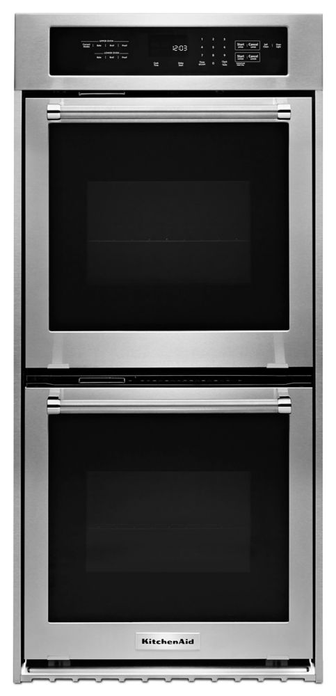 KitchenAid 24 -inch 3.1 cu.ft. Double Electric Wall Oven with Convection in Stainless Steel