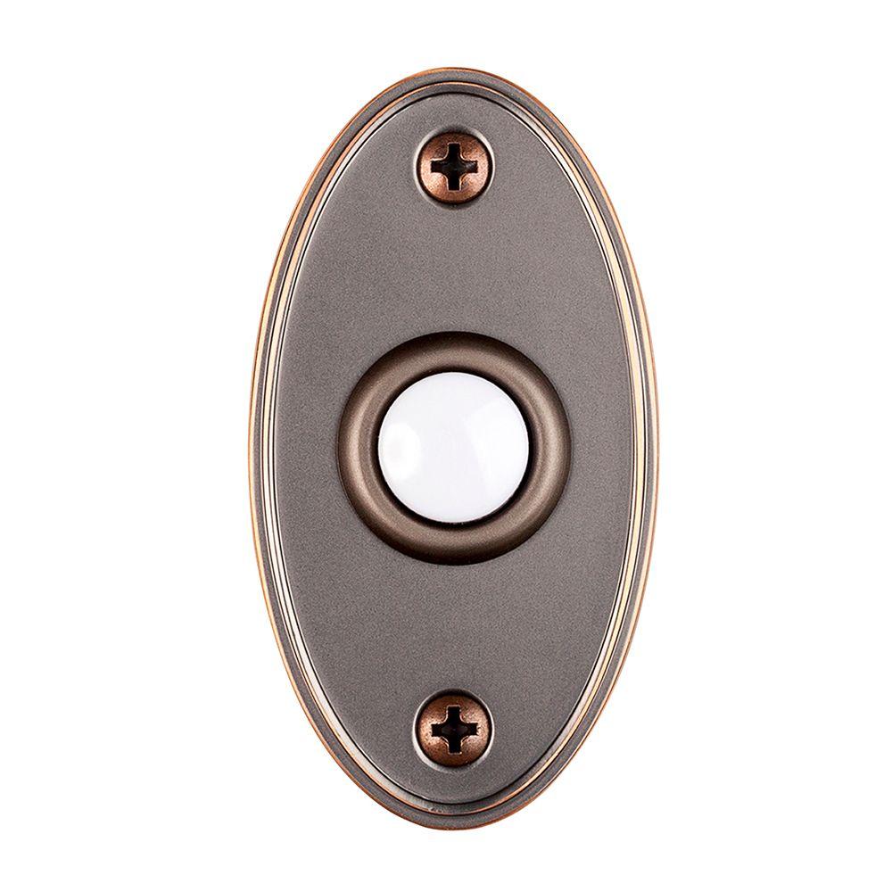Wired Lighted Bell porte Push Button - Bronze méditerranéen