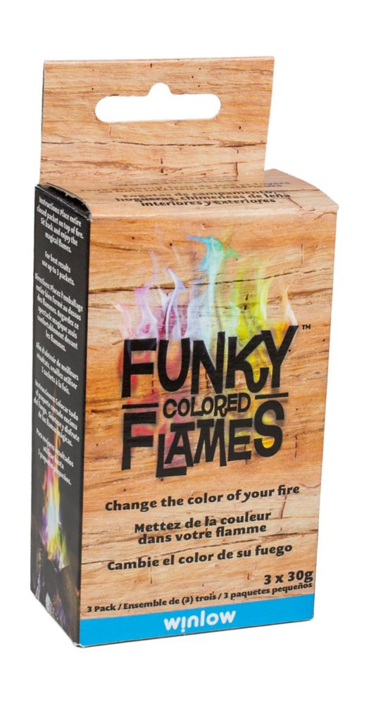 Funky Flames Funky colored Flames 3 pack Display
