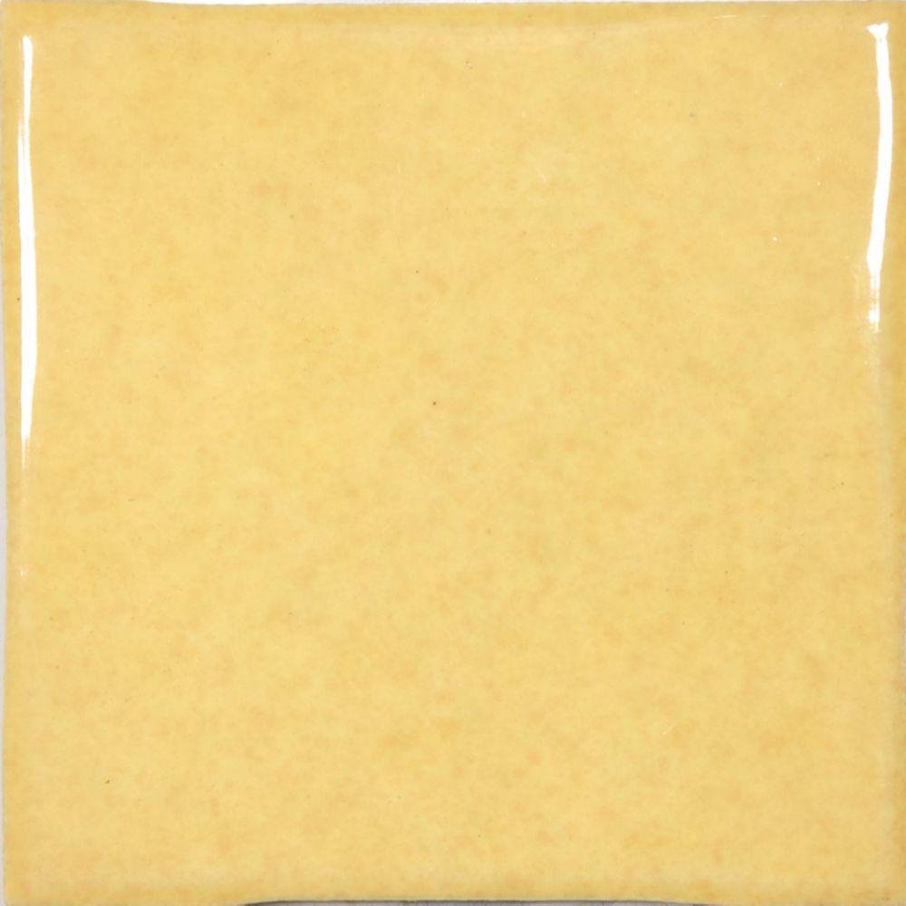 "4""x4"" Mediterrano Yellow Wall Tile (64 pcs / 6.89 sqft per box)"