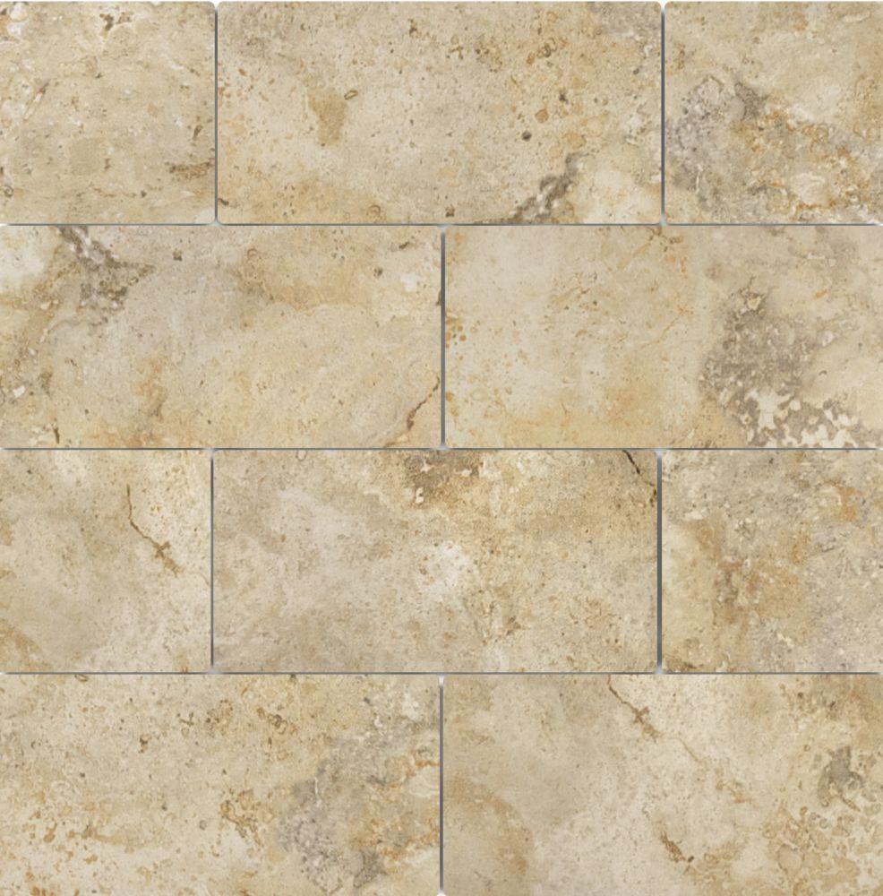 "3""x6"" Capri Giallo Porcelain Tile (44 pcs / 5.38 sqft per box)"