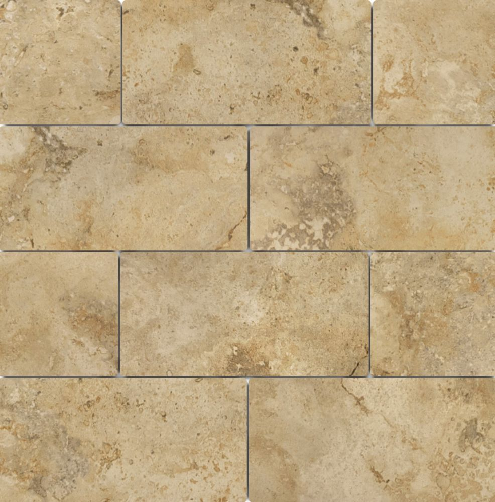Anatolia Tile 3-inch x 6-inch Capri Noce Porcelain Tile, Set of 44 (5.38 sq.ft. per box)