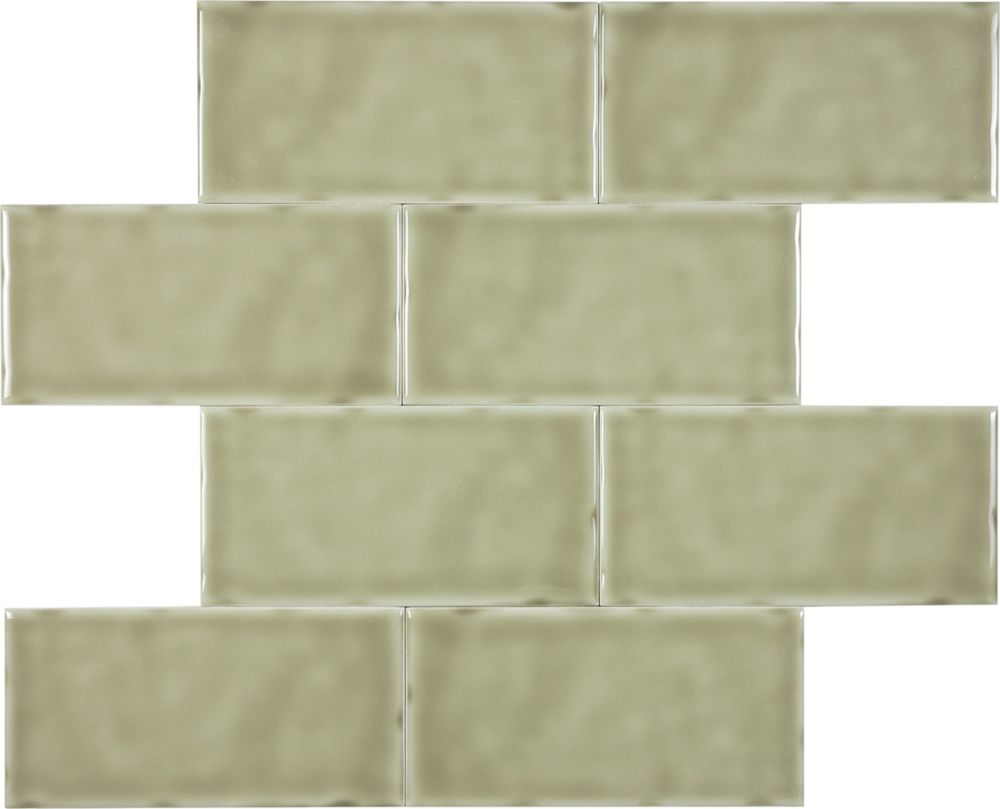 Wolfe Creek 3-inch x 6-inch Wall Tile in Sage (3.00 sq. ft./case)