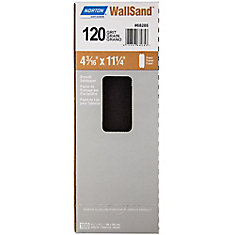 WallSand Drywall Paper Sanding Sheets 120- Medium 4-3/16 inch x 11 inch (100-Pack)