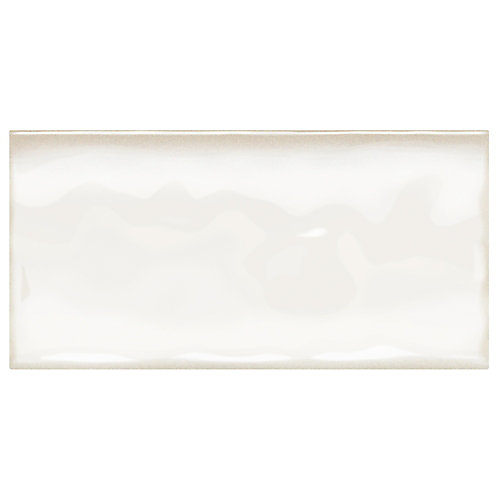 Structured Effects Minimal White 3 Inch x 6 Inch Glazed Ceramic Wall Tile