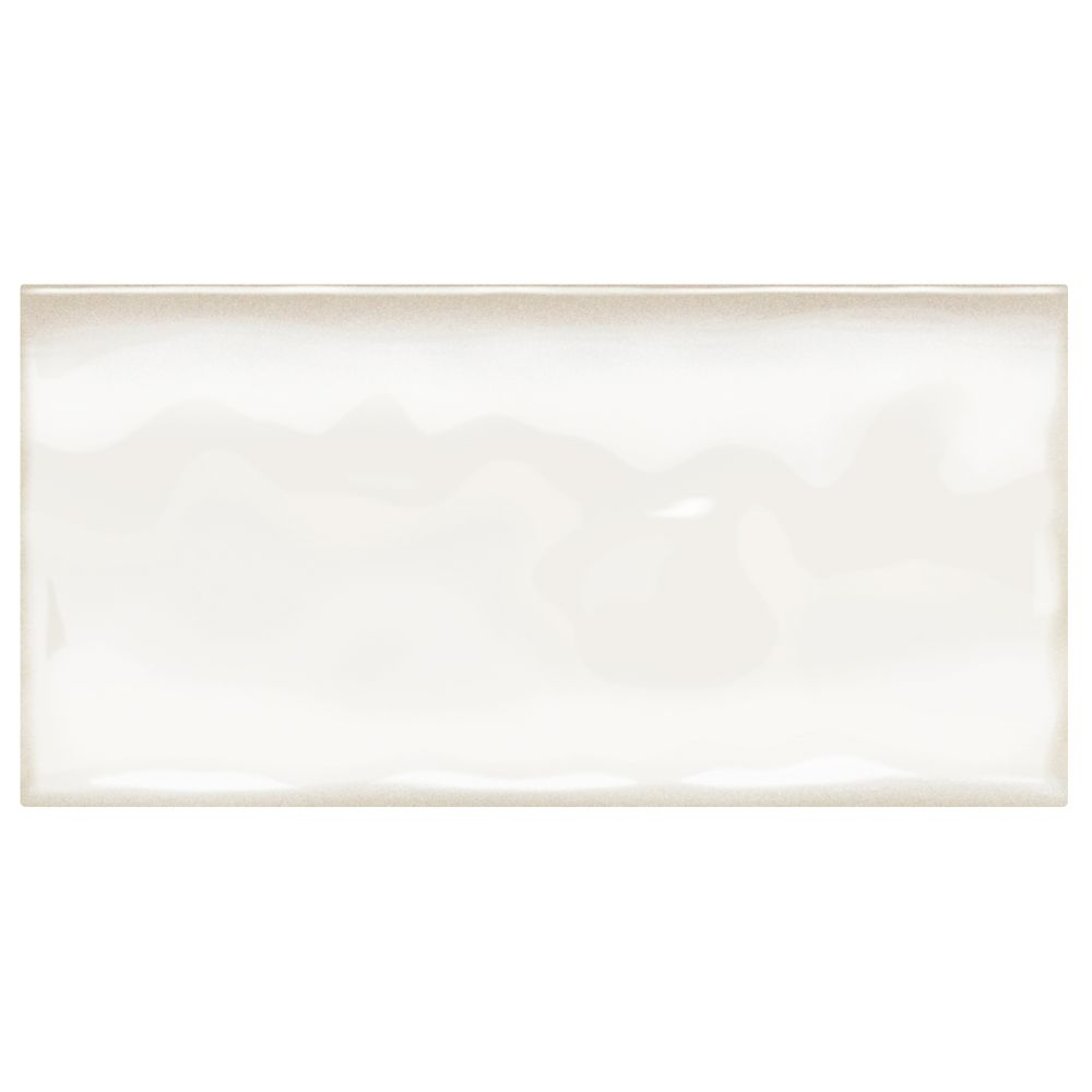Daltile Structured Effects Minimal White 3 Inch x 6 Inch Glazed Ceramic Wall Tile