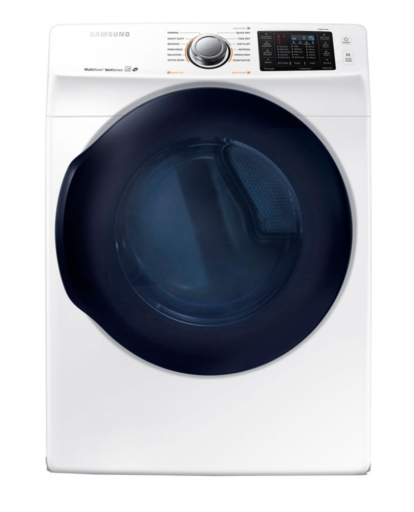 Samsung DV45K6200EW 7.5 cu. ft. Front Load Electric Dryer in White