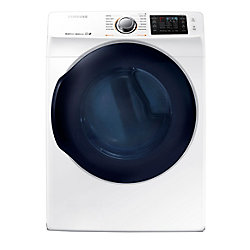 Samsung 27-inch 7.5 cu. ft. Front-Load Electric Dryer with Steam Dry in White - ENERGY STAR®