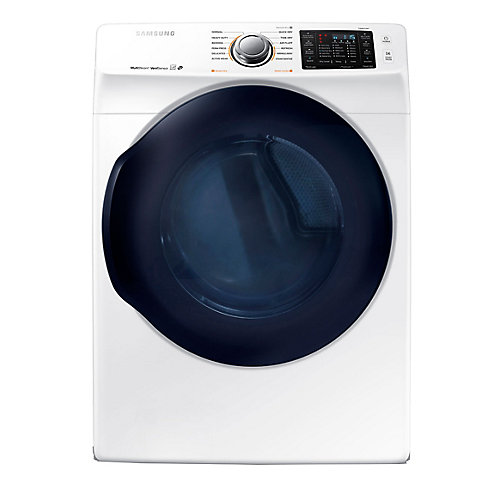 7.5 cu. ft. Front Load Electric Dryer with Steam in White - ENERGY STAR®
