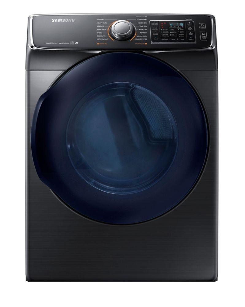 Samsung 7.5 cu. ft. Front-Load Electric Dryer in Black Stainless Steel DV45K6500EV