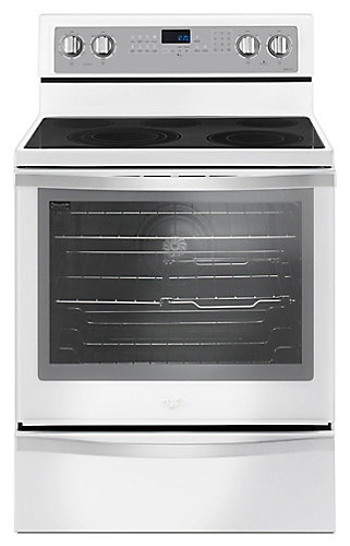 Whirlpool 30 Inch 6 4 Cu Ft Single Oven Electric Range With Self Cleaning Convection In White Ice The Home Depot Canada