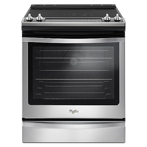 6.4 cu.ft. Slide-In Electric Range with Self-Cleaning True Convection Oven in Stainless Steel