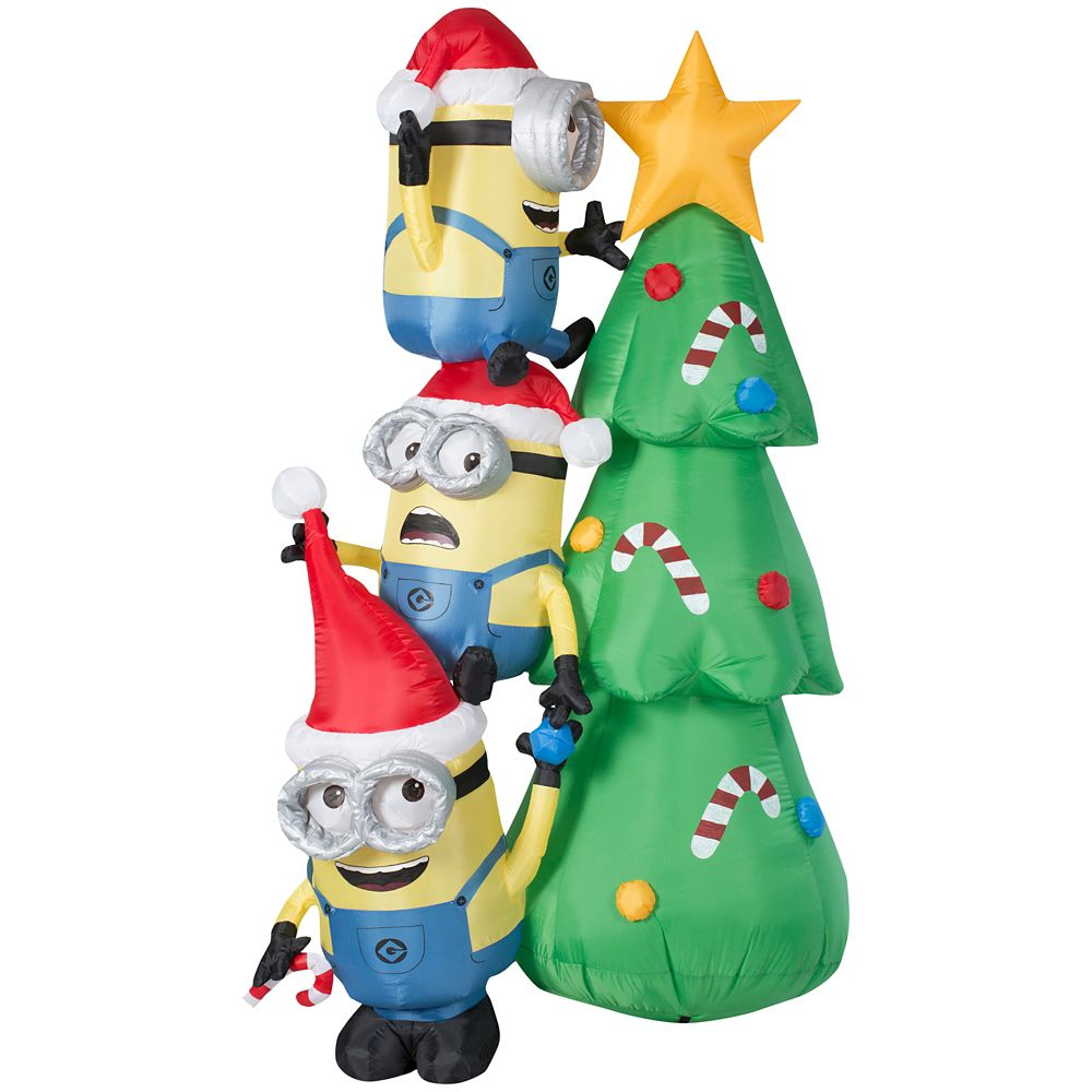 universal 6 foot inflatable minions decorating christmas