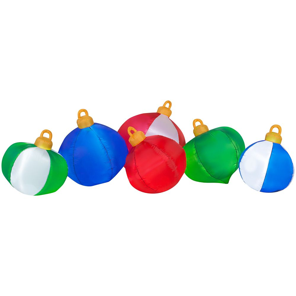 Inflatable Ornament Clusters Scene