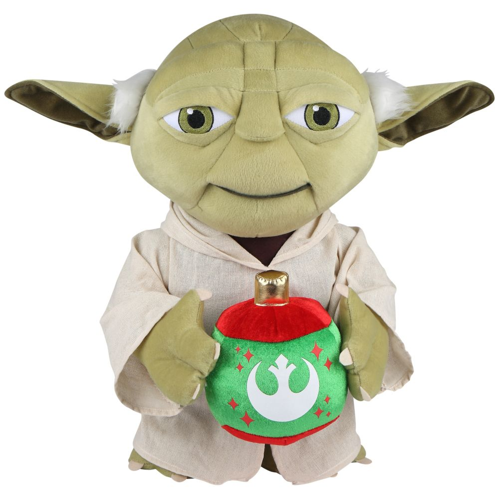 Décoration d'accueil de fêtes - Yoda avec un ornement - OPP - Star Wars (HD)