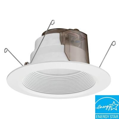 Lithonia Lighting 5 Inch / 6 Inch LED  E Series Recessed Baffle Module 3000K - Matt White