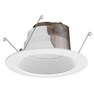 6 Inch LED Recessed Baffle Module - Matt White