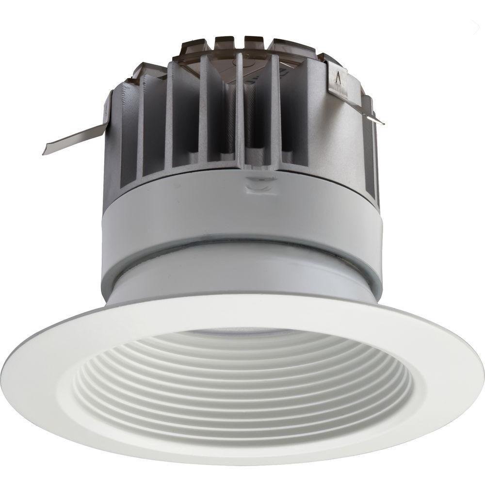 6 Inch LED Recessed High Ceiling Baffle Module - Matt White