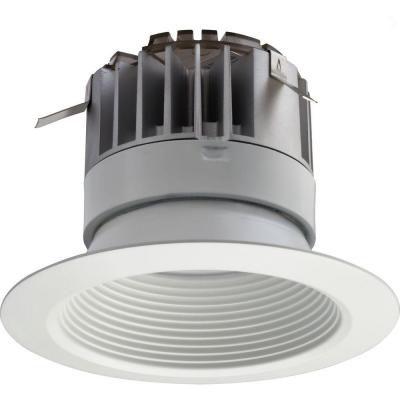 4 Inch LED Recessed Baffle Module 30K 90CRI - Matt White