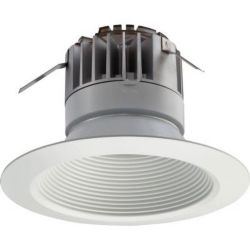 Lithonia Lighting 5 Inch LED Recessed Baffle Module - Matt White