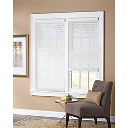 Home Decorators Collection White Cordless 2-inch Faux Wood Blind - 66-inch W x 64-inch L (Actual Size 65.5-inch W x 64-inch L)