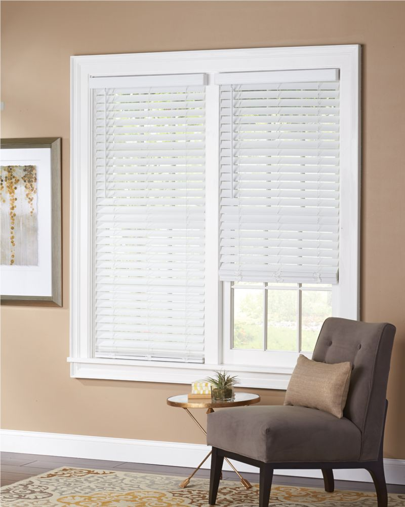Home Decorators Collection 2 Inch Faux Wood Blind White 72 Inch X 48 Inch The Home Depot Canada