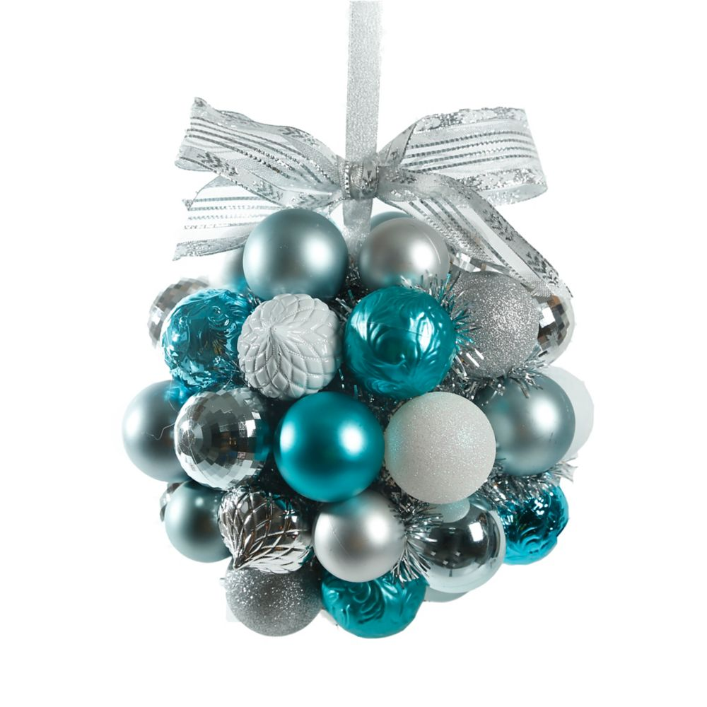 10 Inch Winter Wishes Ornament Kissing Ball