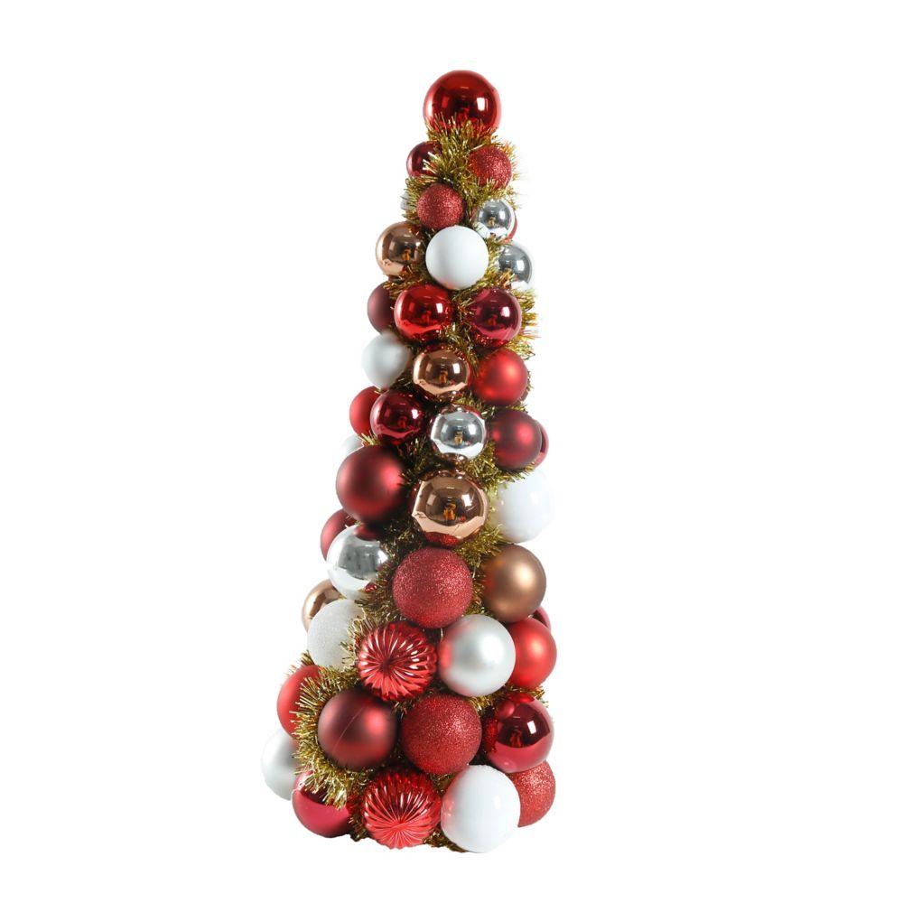 18 Inch Winter Tidings  Ornament Cone Tree