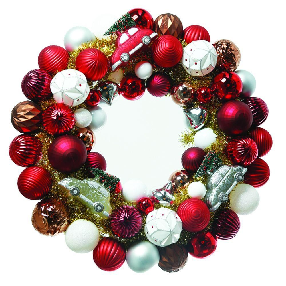 24 Inch Winter Tidings Ornament Wreath